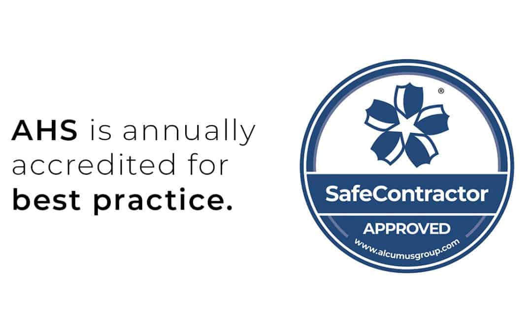 Absolute Hygiene Solutions' annual SafeContractor Health & Safety accreditation has been renewed by Alcumus Group